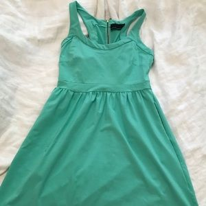 Cynthia Rowley fit n flare mint scuba dress